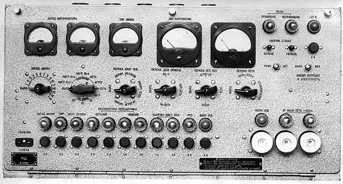 щит радиостанции Р-140
